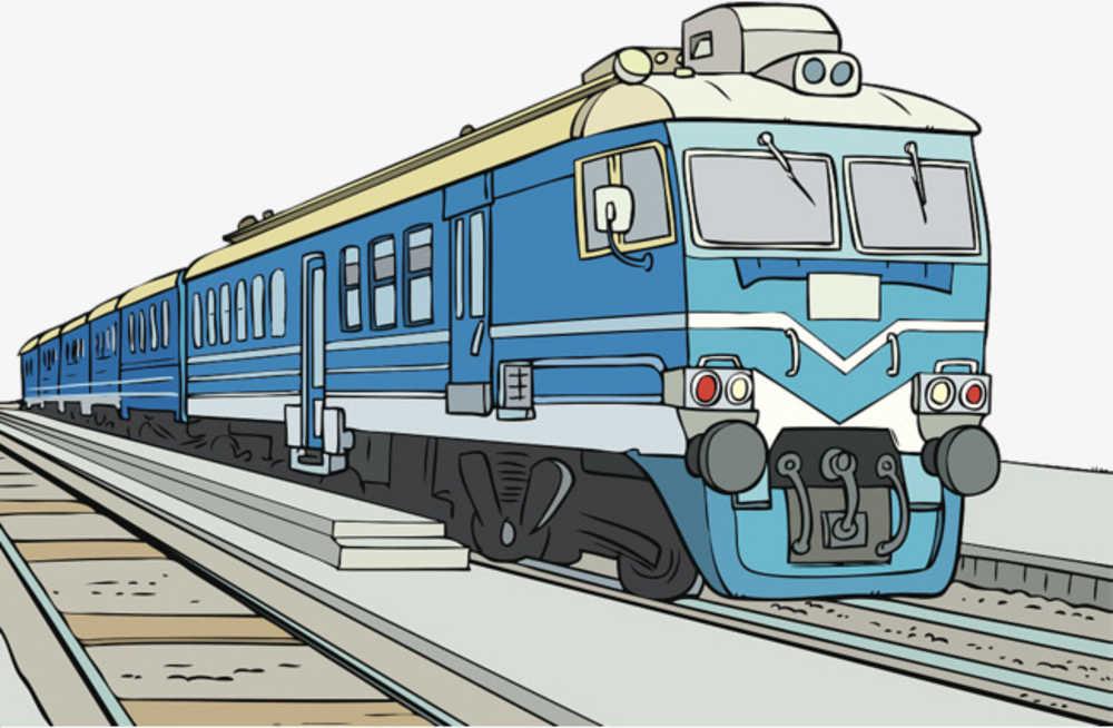 Поезда картинки нарисованные