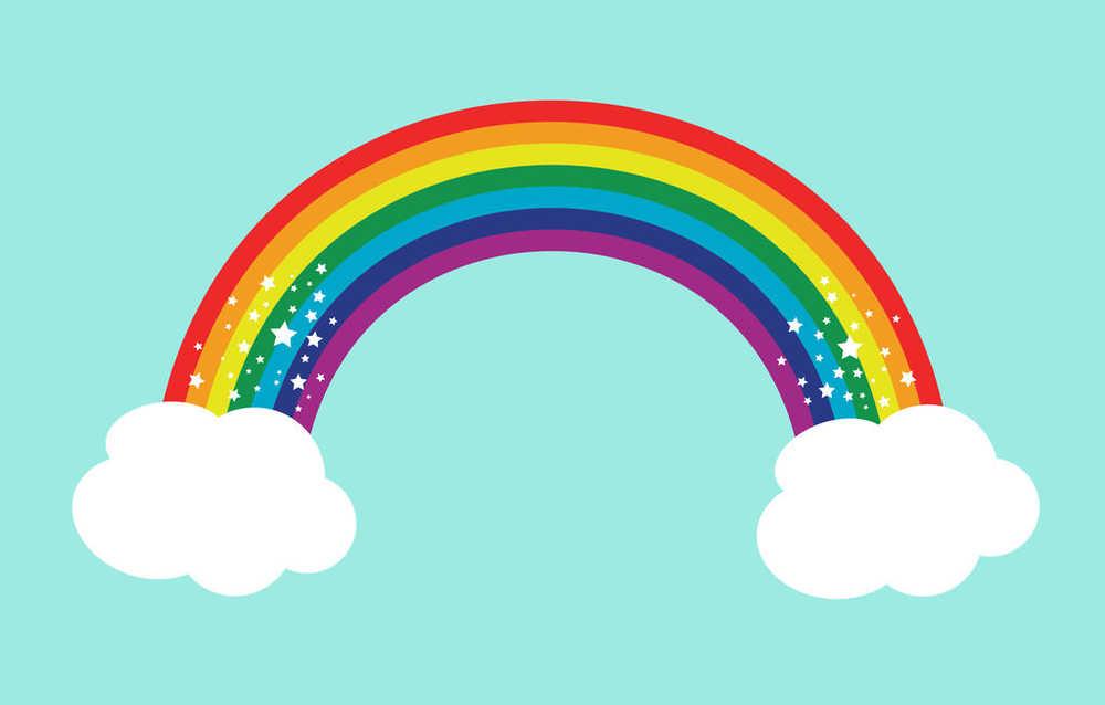 Картинки нарисованная радуга